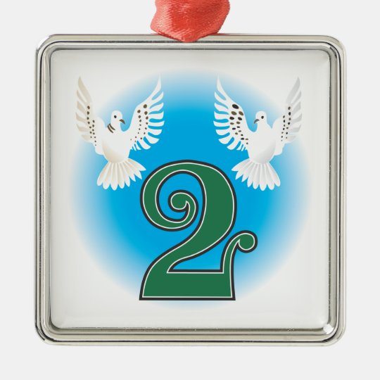 The 12 days of Christmas Metal Ornament