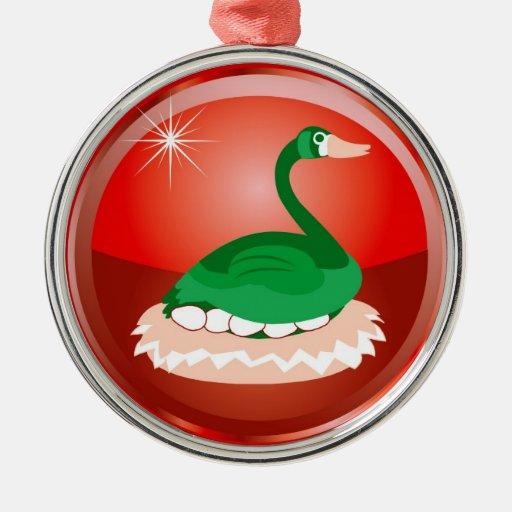 The 12 Days of Christmas Round Metal Christmas Ornament