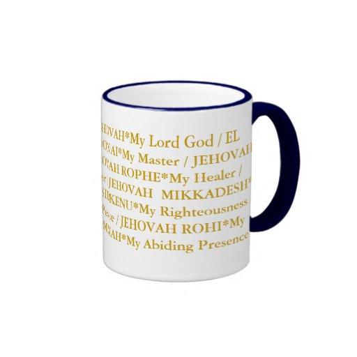 The 12 names of God Coffee Mug