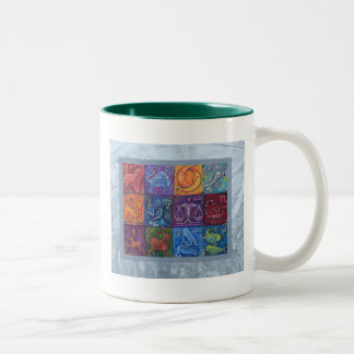 The 12 Signs of the Zodiac Two-Tone Coffee Mug