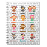 The 12 Signs of Zodiac Spiral Notebook