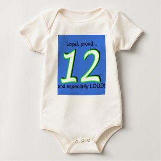 The 12th Man's 12th Baby's 1-piece Jersey Baby Bodysuit