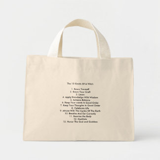 The 13 Goals Of A Witch1. Know Yourself2. Know ... Mini Tote Bag