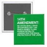 THE 14TH AMENDMENT BUTTONS