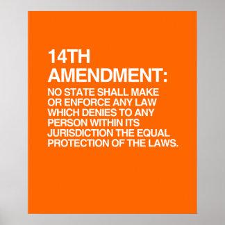THE 14TH AMENDMENT POSTER