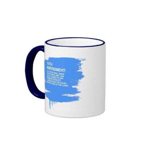 THE 14TH AMENDMENT RINGER COFFEE MUG