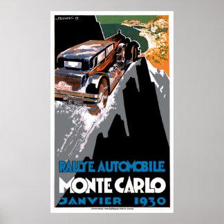 The 1930 Monte Carlo Auto Rally Poster