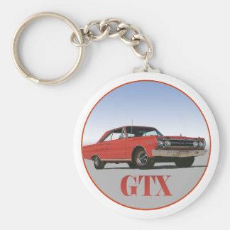 THE 1967 RED GTX BASIC ROUND BUTTON KEYCHAIN