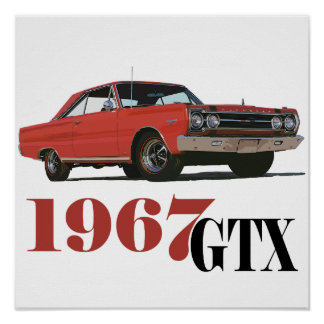THE 1967 RED GTX POSTER