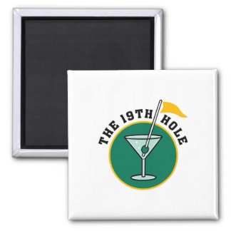 The 19th Hole Funny Golf Dadism gift 2 Inch Square Magnet