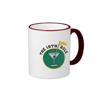 The 19th Hole Funny Golf Dadism gift Ringer Coffee Mug