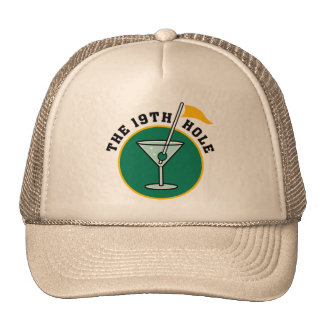 The 19th Hole Funny Golf Dadism gift Trucker Hat