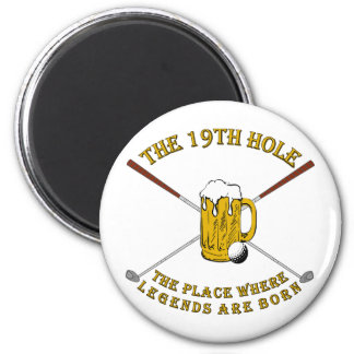 The 19th Hole 2 Inch Round Magnet