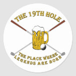The 19th Hole Round Stickers