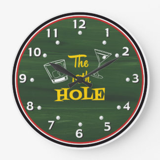 The 19th Hole Whimsical Golfer's Clock