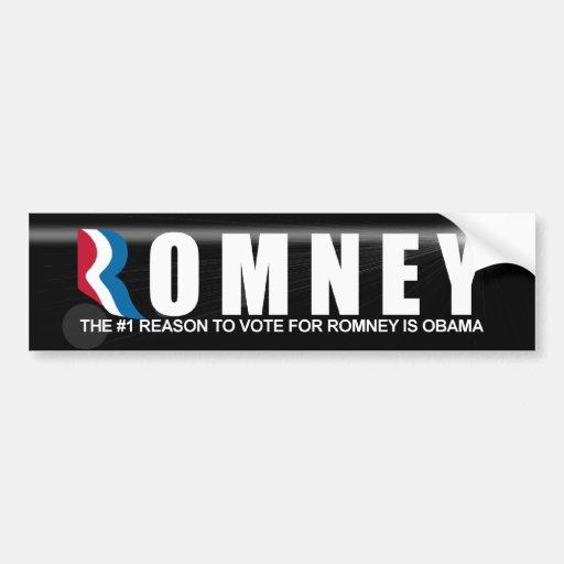 The #1 Reson to Vote For Romney Car Bumper Sticker