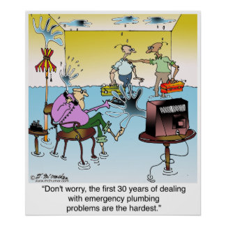 The 1st 30 Years of Plumbing Are The Hardest Poster