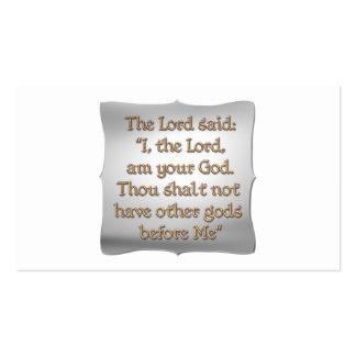 The 1st Commandment Business Card