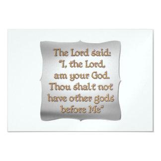 The 1st Commandment 3.5x5 Paper Invitation Card