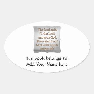 The 1st Commandment Oval Sticker