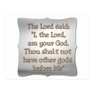The 1st Commandment Postcard