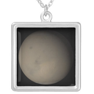 The 2001 Great Dust Storms on Mars 2 Silver Plated Necklace