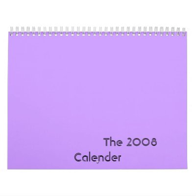 The 2008 Calender Wall Calendars