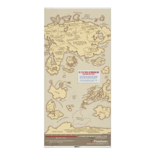 The 2010 Social Networking Map Print
