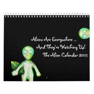 The 2011 aLiEn Calendar! Calendar