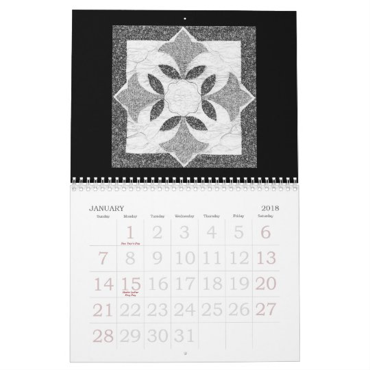 The 2011 Digital Quilt Calendar In Black And White