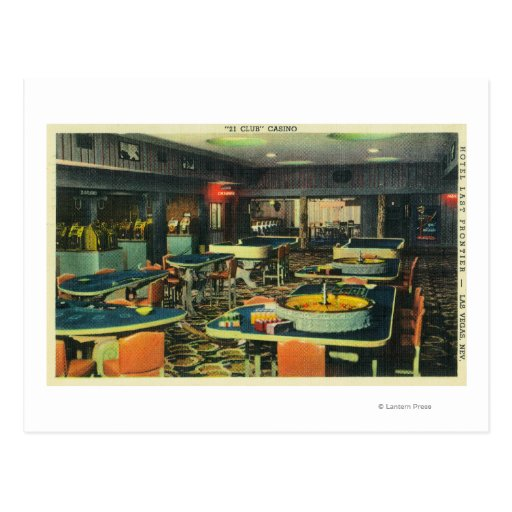 The 21 Club Casino, Hotel Last Frontier Post Card