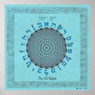 The 231 Gates Sky Blue Poster