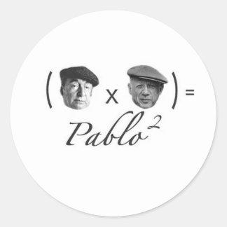 The 2 Pablos Classic Round Sticker