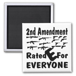 The 2nd Amendment Rated E For Everyone Magnet