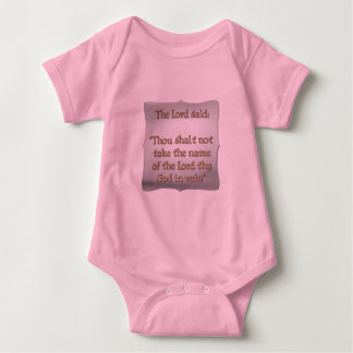 The 2nd Commandment Baby Bodysuit