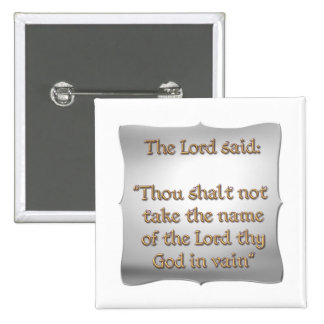 The 2nd Commandment Pins