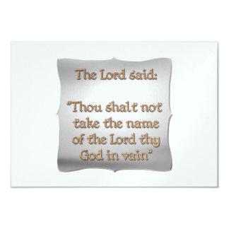 The 2nd Commandment 3.5x5 Paper Invitation Card