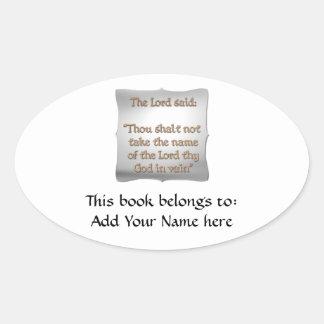 The 2nd Commandment Oval Sticker