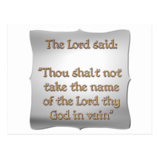 The 2nd Commandment Postcard