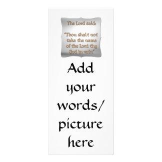 The 2nd Commandment Rack Card