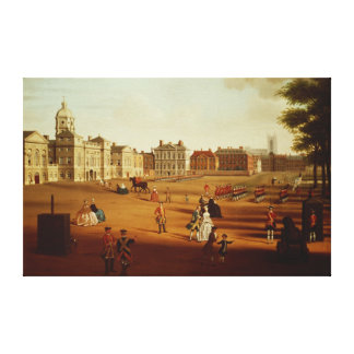 The 2nd Footguards  on Parade at Horse Guards' Canvas Print