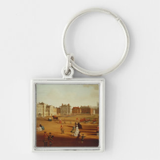 The 2nd Footguards  on Parade at Horse Guards' Silver-Colored Square Keychain