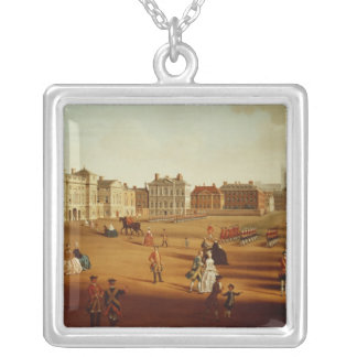 The 2nd Footguards  on Parade at Horse Guards' Silver Plated Necklace
