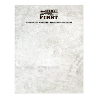The 2nd Protects the First Personalized Gun Rights Letterhead