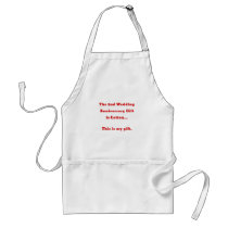 The 2nd Wedding Anniversary is Cotton This is my Adult Apron