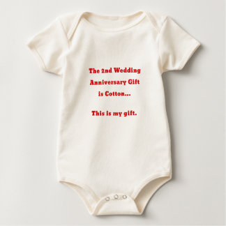 The 2nd Wedding Anniversary is Cotton This is my Baby Bodysuit