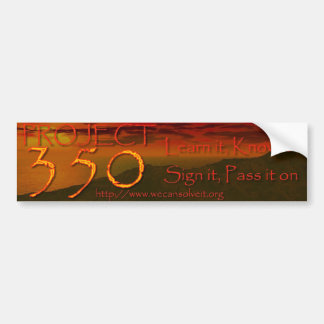 The 350 Project - Bumper Sticker