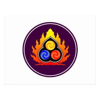 The 3 Jewels - Taoism / Tao Te Ching / Lao Tzu Postcard