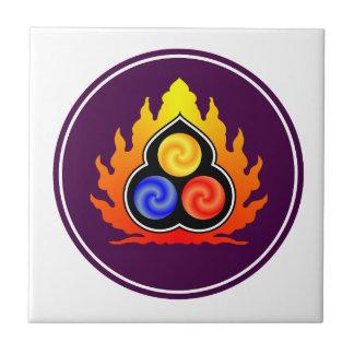 The 3 Jewels - Taoism / Tao Te Ching / Lao Tzu Small Square Tile