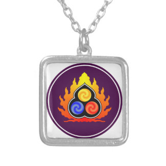 The 3 Jewels - Taoism / Tao Te Ching / Lao Tzu Square Pendant Necklace